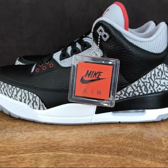 finest selection deca1 c6245 Nike Air Jordan Retro 3 Black Cement Lot Size 11